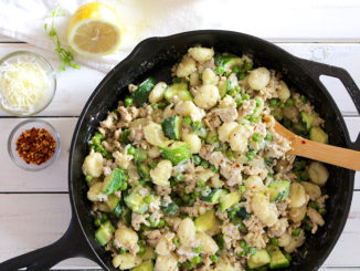 1-Pan Gnocchi with Ground Turkey and Zucchini