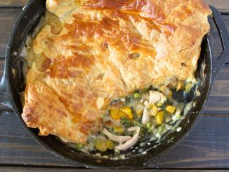Winter Squash and Kale Chicken Pot Pie