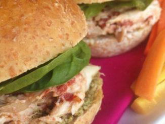 Chicken Sandwich with Sun-dried Tomato Mayo & Pesto