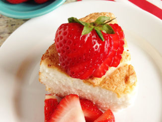 Citrus Angel Food Cake with Strawberries