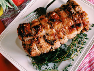 Pork Loin Roast with Peppercorn and Herb Crust