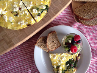 Frittata with Sun-Dried Tomatoes, Spinach and Feta Cheese