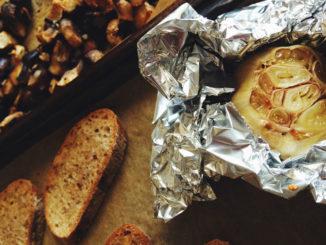 Roasted Mushroom Bruschetta