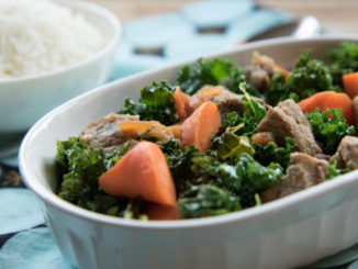 Braised Pork Shoulder with Kale