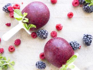 Blackberry Rose Water Popsicles