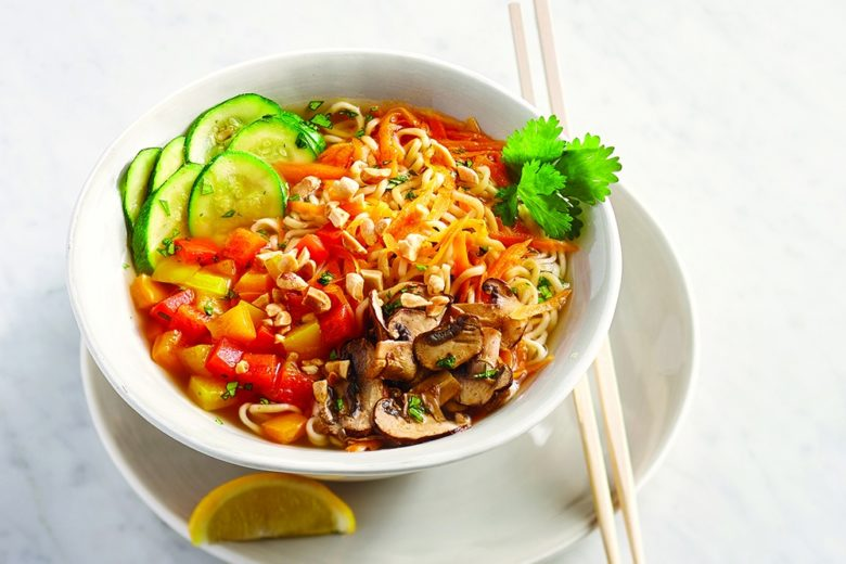 Rainbow Ramen Recipe with Chili-Garlic Citrus Broth