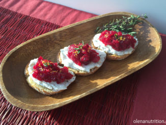 Holiday Appetizer: Savory Cranberry Goat Cheese Crostini
