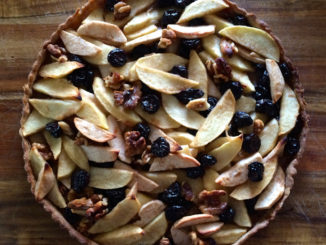 Dessert for Your Holiday Dinner: Apple and Dried Cherry Tart