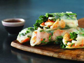 Kohlrabi, Apple and Shrimp Spring Rolls