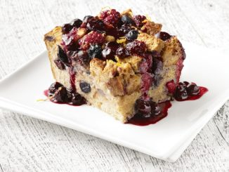 Baked Berry French Toast with Ginger-Lemon Berry Sauce