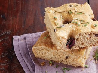 Olive Whole-Wheat Focaccia