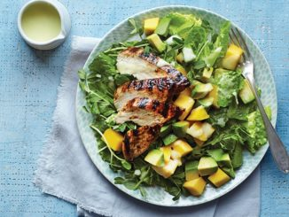 Summer Salad with Grilled Chicken and Feijoa Dressing