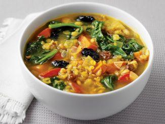 Moroccan Farro and Lentil Soup