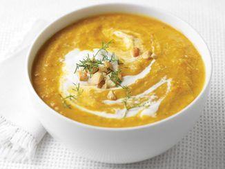 Sweet Potato Soup with Cashew-Coconut Cream