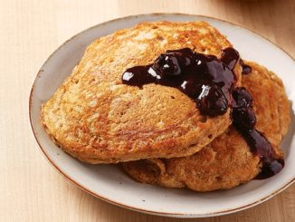 Spelt Flour Pancakes with Blueberry-Ginger Compote