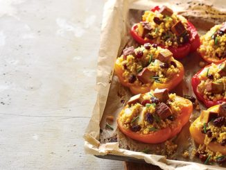 Millet-Stuffed Peppers with Chipotle Tofu