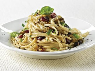 Whole-Grain Linguini with Cranberries and Gorgonzola