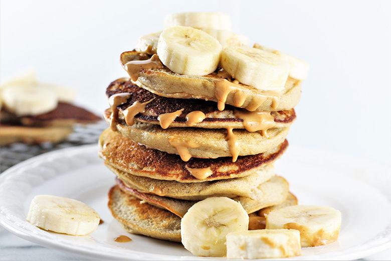 Stack of Banana Oat Pancakes