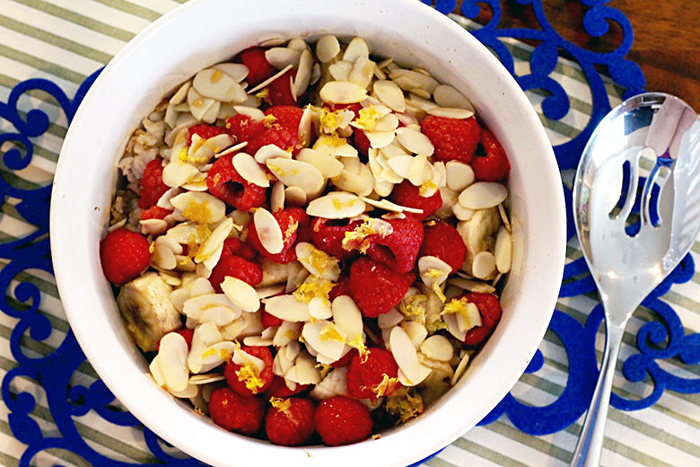 Almond Raspberry Banana Baked Rice | Food & Nutrition | Stone Soup