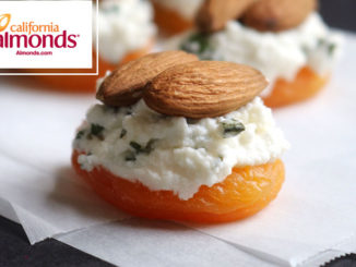 Apricots with Basil Ricotta and Almonds