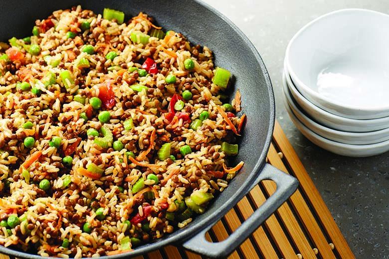Asian Lentil Sesame Fried Rice | Food & Nutrition Magazine | Volume 10, Issue 2