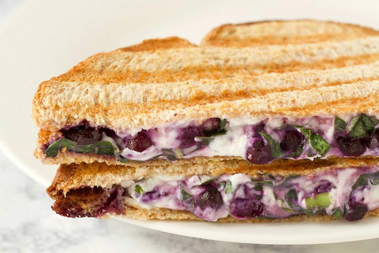 Blueberry, Basil and Goat Cheese Panini Sandwich   Food & Nutrition   Stone Soup