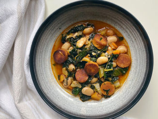 Butter Bean, Kale and Sausage Stew - Food & Nutrition Magazine - Stone Soup