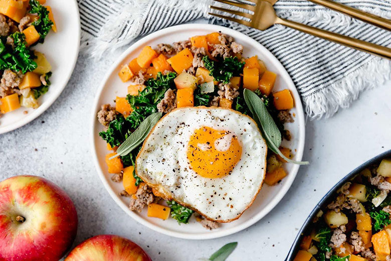 Butternut Squash and Apple Hash with Sausage - Food & Nutrition Magazine - Stone Soup