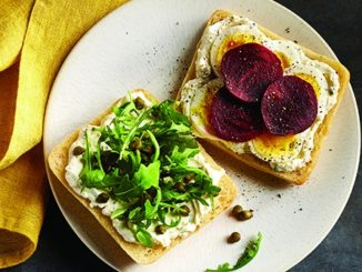 Pickled Beet, Arugula & Egg Sandwich