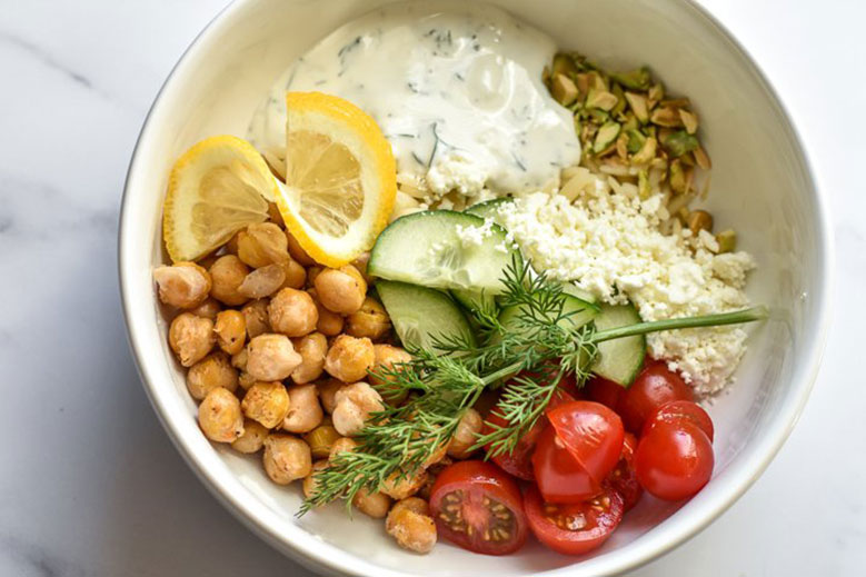 Spicy Chickpea and Tzatziki Power Bowls - Food & Nutrition Magazine - Stone Soup