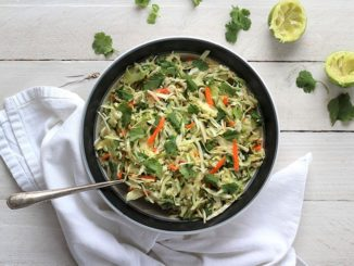 Easy Cilantro Lime Coleslaw - Food & Nutrition Magazine - Stone Soup