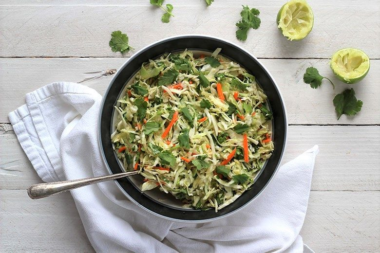 Easy Cilantro Lime Coleslaw - Food & Nutrition Magazine - Stone Soup