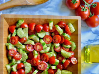 Cucumber Tomato Salad with Balsamic and Dill - Food & Nutrition Magazine - Stone Soup