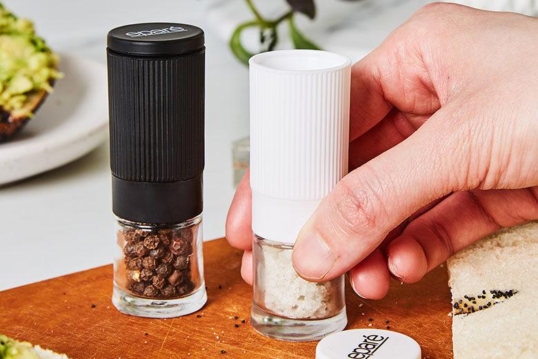 Pretty, Petite Salt and Pepper Grinder Set - Food & Nutrition Magazine - Stone Soup
