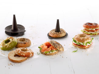 Bagel sandwiches and product Lékué Bagels x6