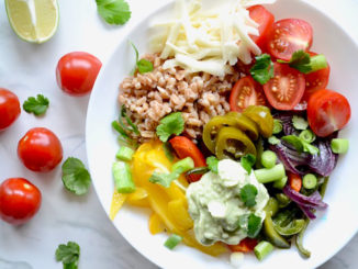 Fajita Farro Bowl Avocado Cream - Food & Nutrition Magazine - Stone Soup
