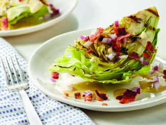 Garlicky Grilled Lettuce with Tahini Dressing | Food & Nutrition Magazine | Volume 10, Issue 2