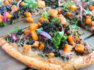 Garlicky Kale Sausage Butternut Squash Pizza | Food & Nutrition | Stone Soup