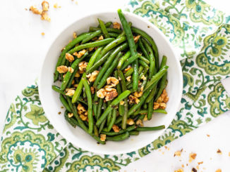 Green Beans with Toasted Walnuts - Food & Nutrition Magazine - Stone Soup