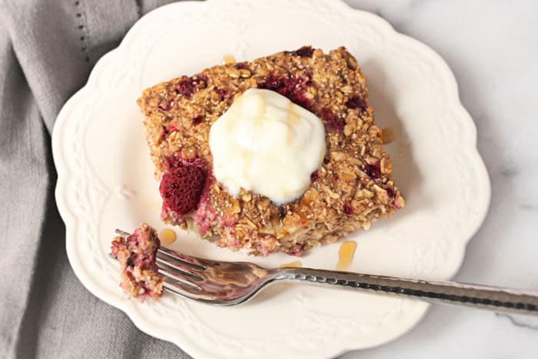 High Protein Baked Oatmeal - Food & Nutrition Magazine - Stone Soup
