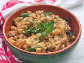Israeli Eggplant Chickpea Mint Salad | Food & Nutrition | Stone Soup