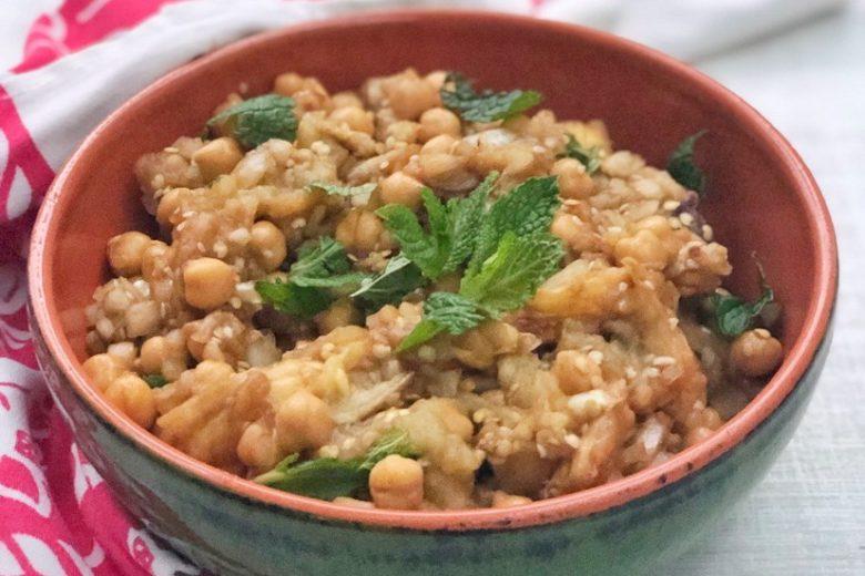 Israeli Eggplant Chickpea Mint Salad | Food & Nutrition | Stone Soup
