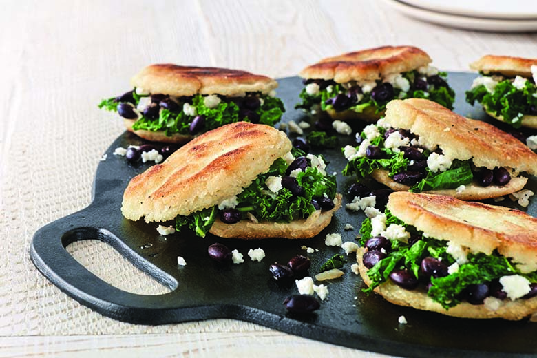 Kale, Onion and Black Bean Arepas | Food & Nutrition Magazine | Volume 9, Issue 1