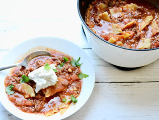 Classic Lasagna Soup - Food & Nutrition Magazine - Stone Soup