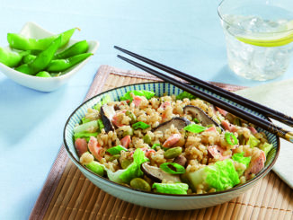 Miso Steamed Rice with Salmon Flake
