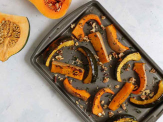Maple Roasted Squash Wedges - Food & Nutrition Magazine - Stone Soup