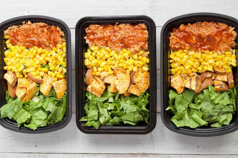 Meal Prep Shredded BBQ Chicken Salad Bowls | Food & Nutrition | Stone Soup