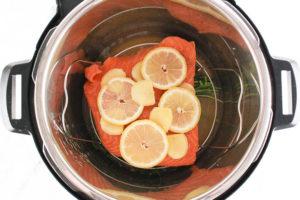Multicooker Lemon Ginger Salmon -
