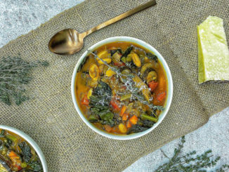 Mushroom, Kale and White Bean Soup - Food & Nutrition Magazine - Stone Soup