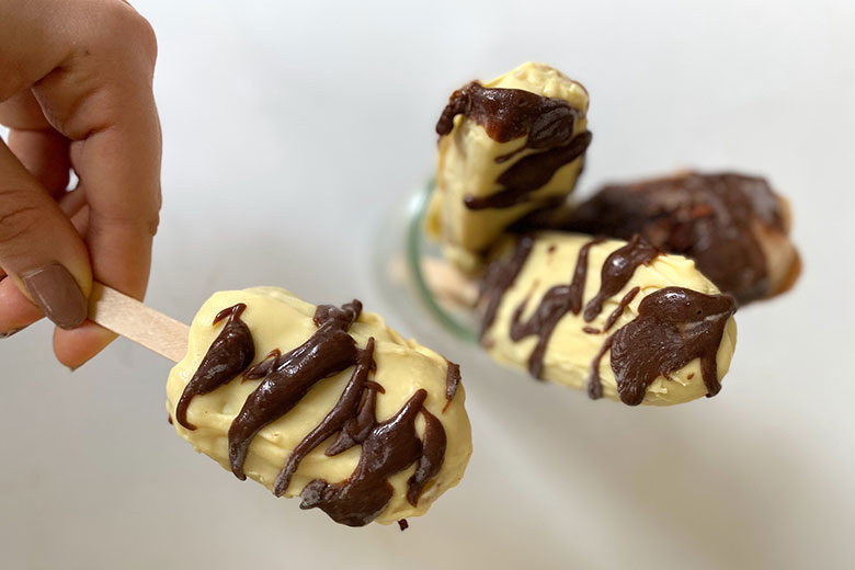 Peanut Butter Ice Cream Pops - Food & Nutrition Magazine - Stone Soup